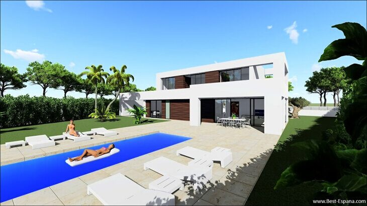 Stock Foto Luxury villa in Calpe near the beach