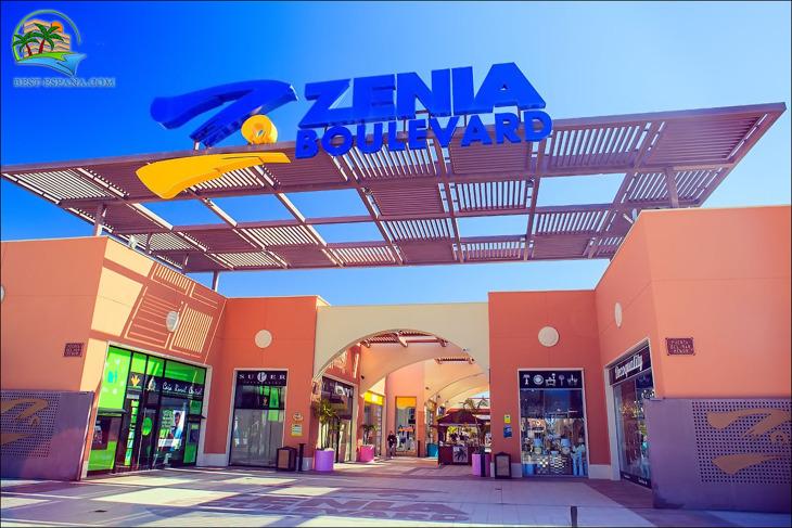 köpcentrum La Zenia Boulevard i Spanien 01 fotografering