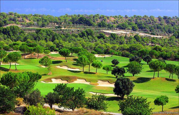 golfbanor i Spanien fastighetsvillor 01