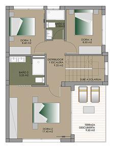 Grundriss einer Villa in Spanien 02 punta prima