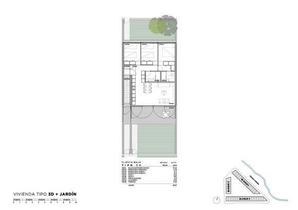 Apartment with 3 bedrooms + 2 plots, terrace