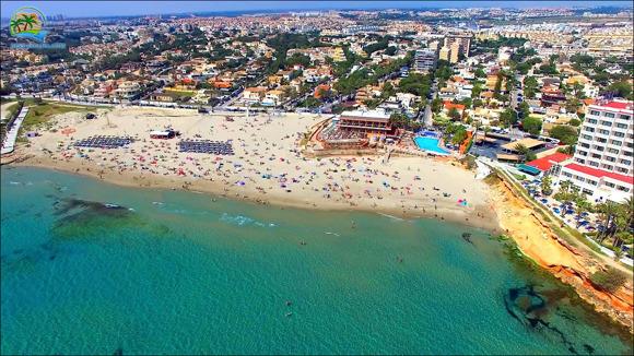 Spanien strand La Zenia med drönare 12