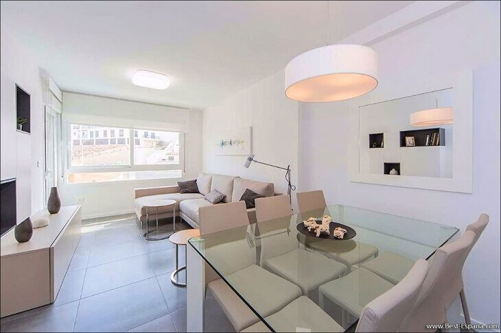 Stock Foto Apartment in Spain with sea view