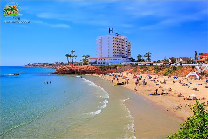 sandstrand i Spanien vid La Zenia-fotografering