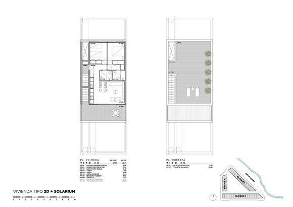 Penthouse with 2 bedrooms + personal solarium, terrace